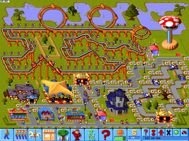 67801-theme-park-dos-screenshot-roller-coaster-is-a-great-and-popular